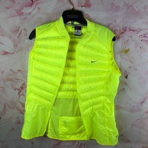 Nike L Neon Yellow running Vest